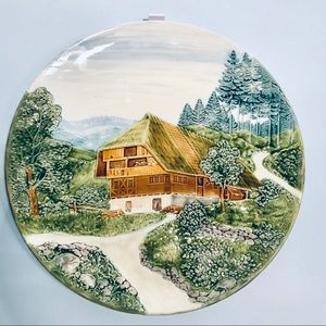 Other - German Plate Wall Mount Country Scene Relief 16""